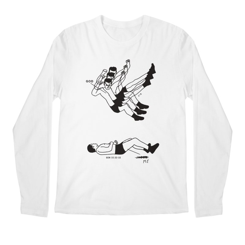 WRESTLING WITH GOD Men's Regular Longsleeve T-Shirt by Jamus + Adriana
