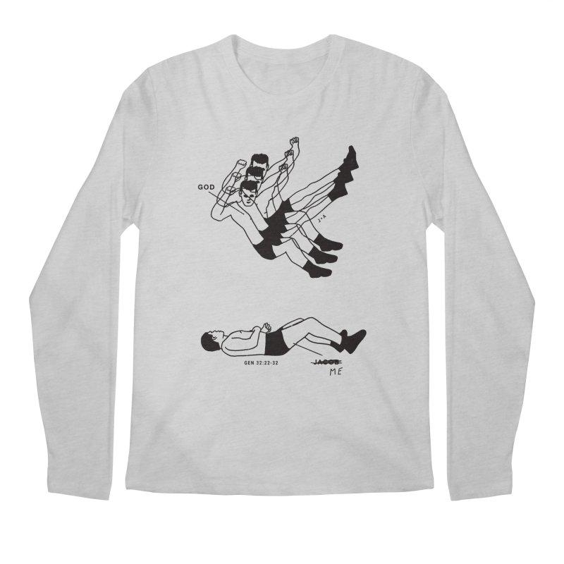 WRESTLING WITH GOD Men's Regular Longsleeve T-Shirt by Jamus + Adriana