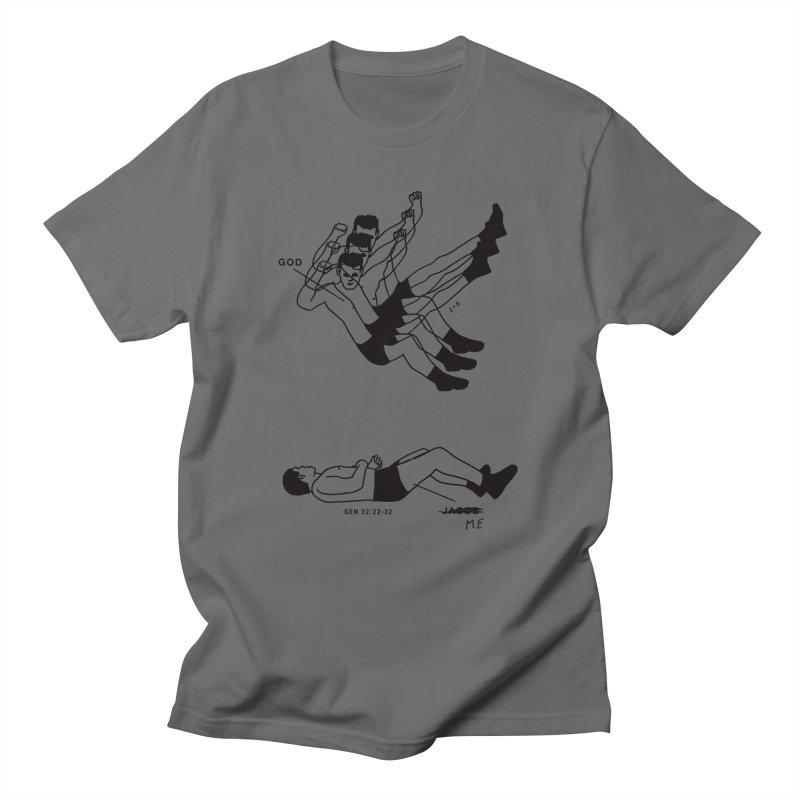 WRESTLING WITH GOD Men's T-Shirt by Jamus + Adriana