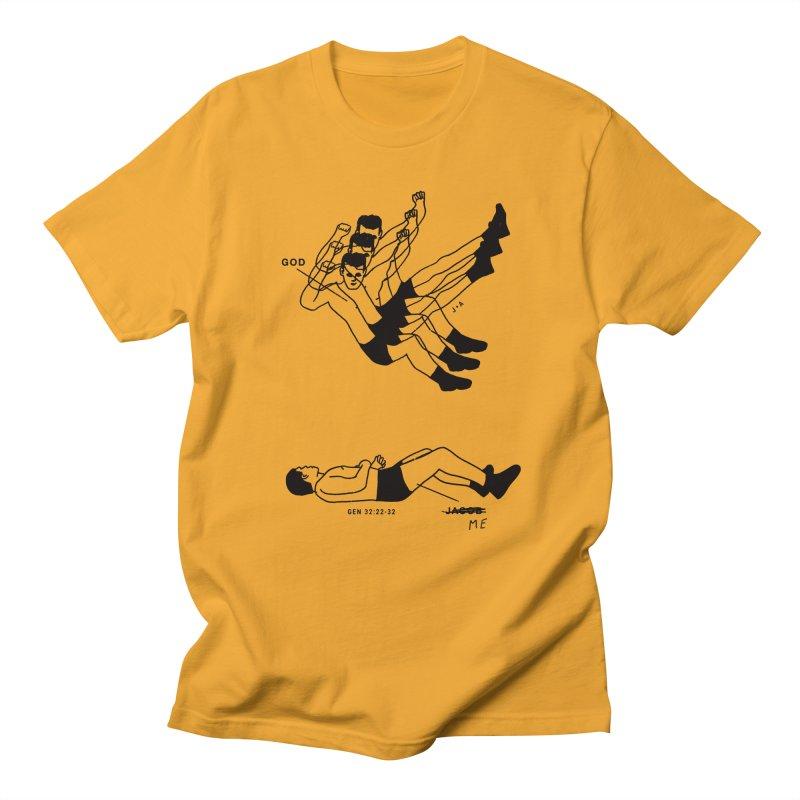 WRESTLING WITH GOD Men's Regular T-Shirt by Jamus + Adriana