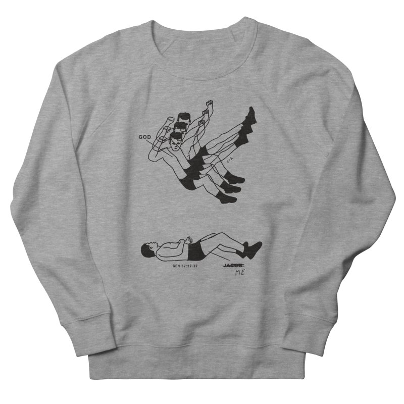 WRESTLING WITH GOD Men's French Terry Sweatshirt by Jamus + Adriana