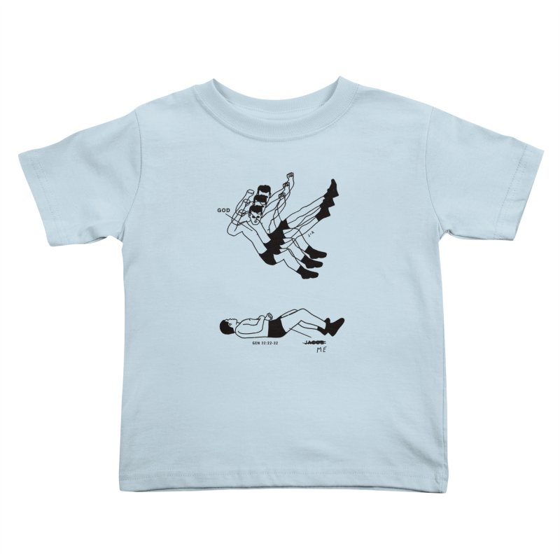 WRESTLING WITH GOD Kids Toddler T-Shirt by Jamus + Adriana