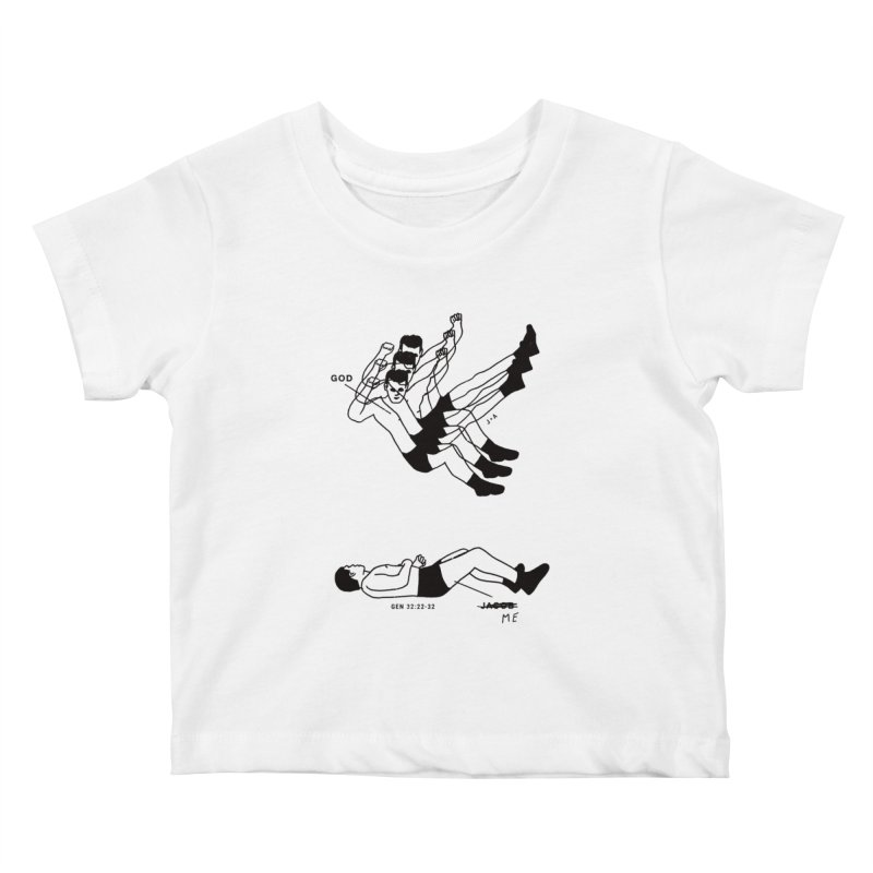 WRESTLING WITH GOD Kids Baby T-Shirt by Jamus + Adriana