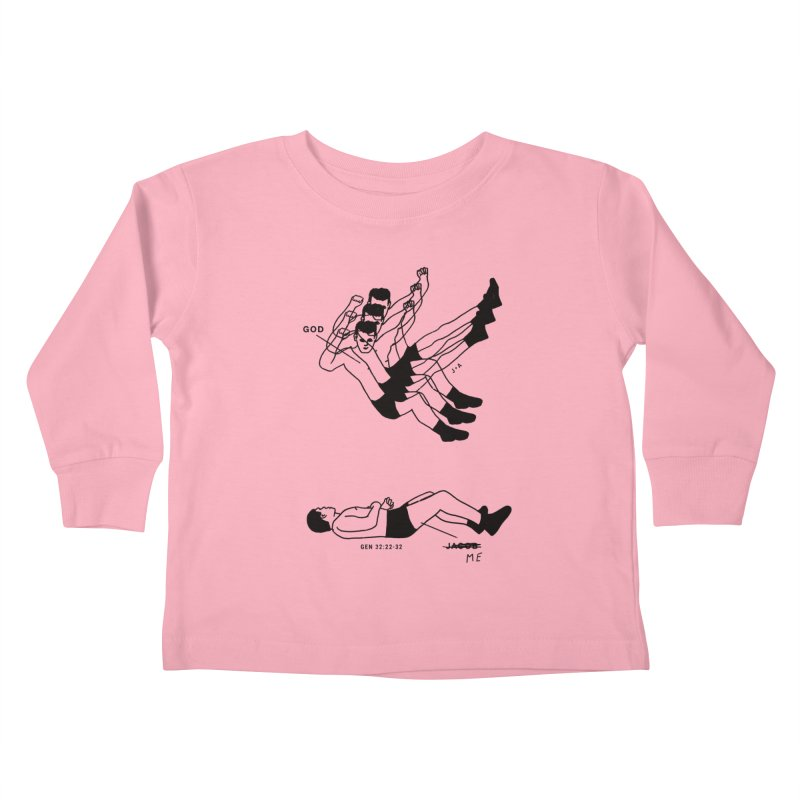 WRESTLING WITH GOD Kids Toddler Longsleeve T-Shirt by Jamus + Adriana