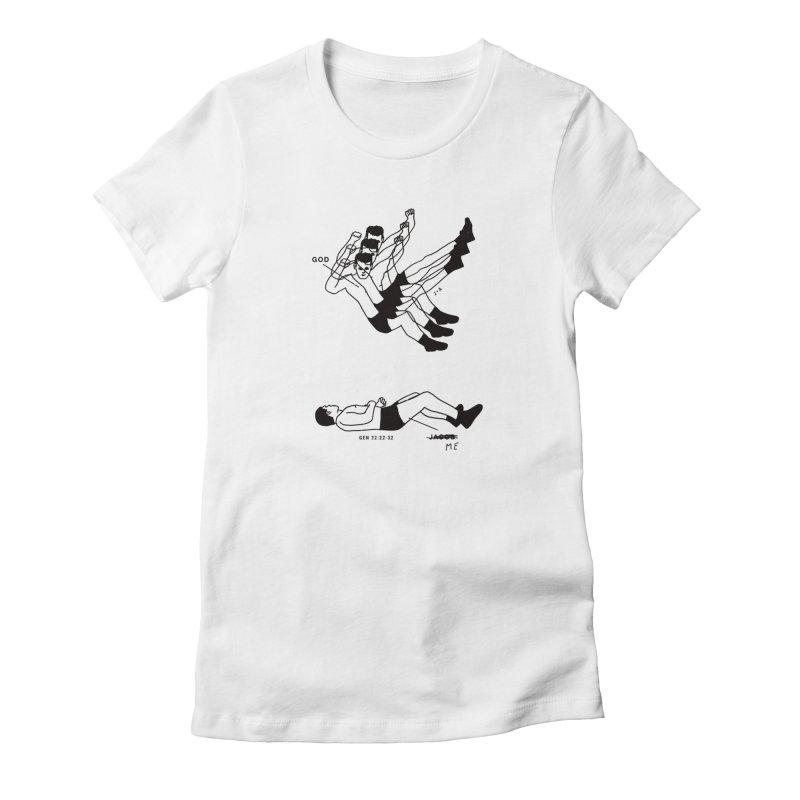 WRESTLING WITH GOD Women's T-Shirt by Jamus + Adriana