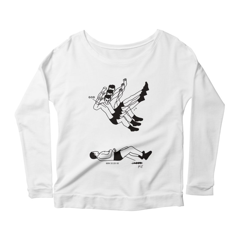 WRESTLING WITH GOD Women's Longsleeve T-Shirt by Jamus + Adriana