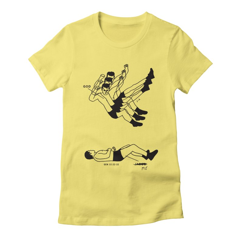 WRESTLING WITH GOD Women's Fitted T-Shirt by Jamus + Adriana