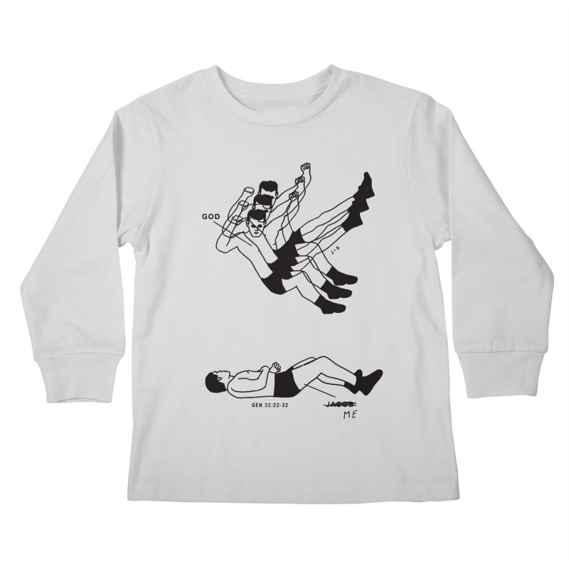 WRESTLING WITH GOD Kids Longsleeve T-Shirt by Jamus + Adriana