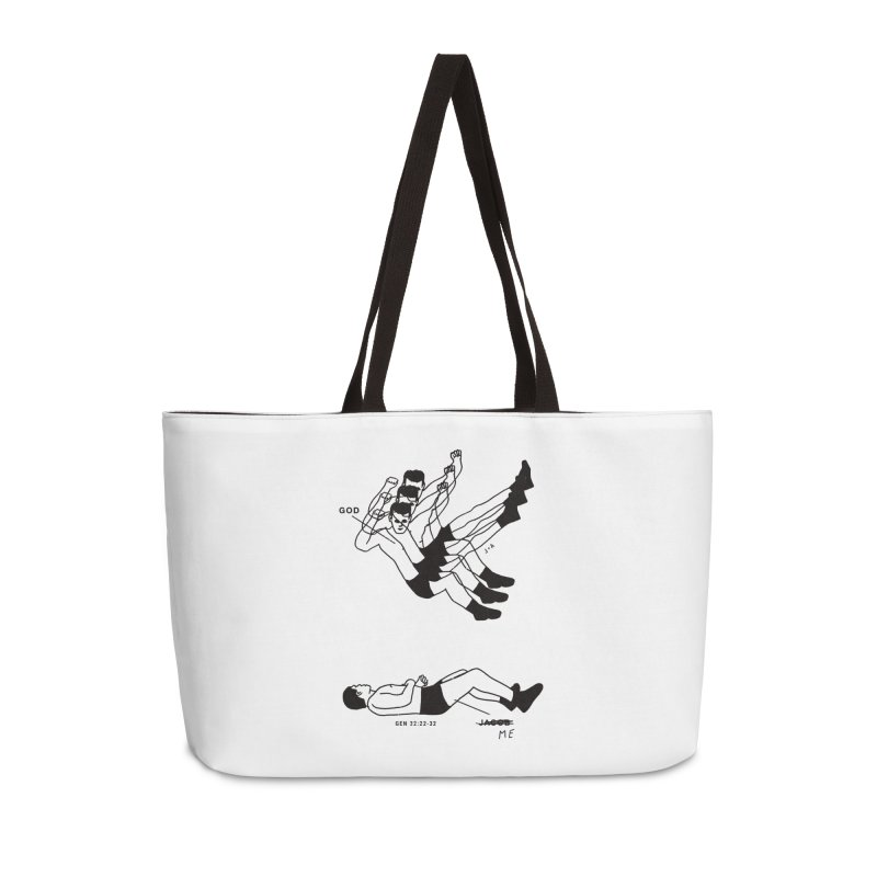 WRESTLING WITH GOD Accessories Weekender Bag Bag by Jamus + Adriana