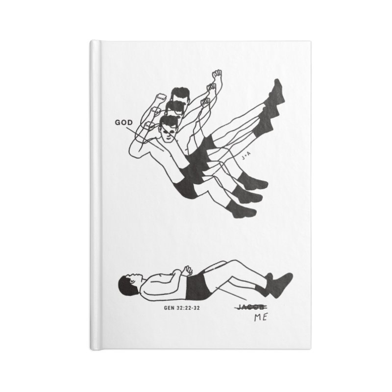 WRESTLING WITH GOD Accessories Blank Journal Notebook by Jamus + Adriana