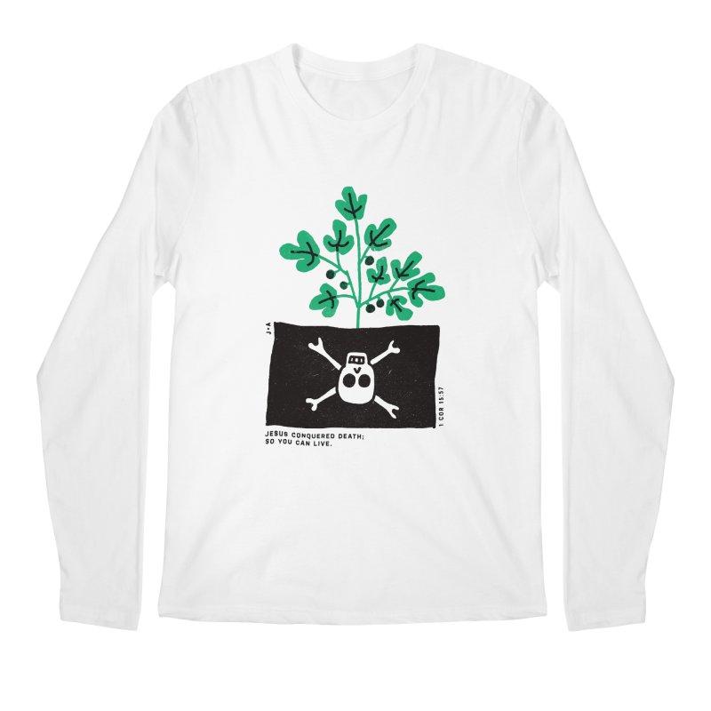 CONQUERED DEATH Men's Regular Longsleeve T-Shirt by Jamus + Adriana