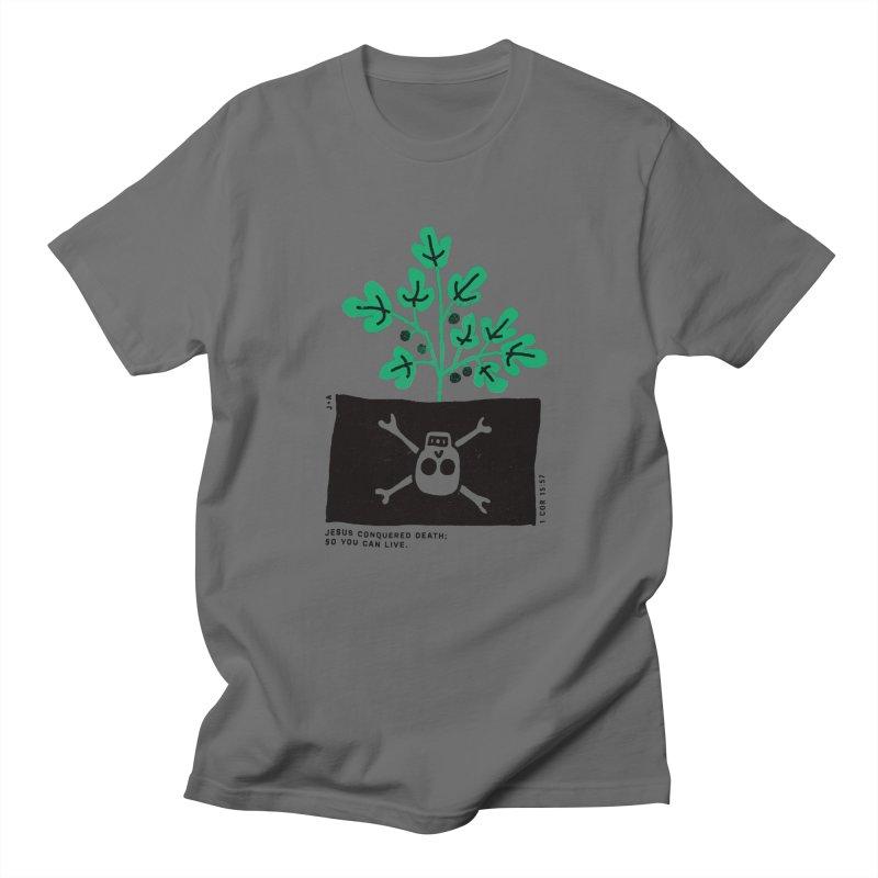 CONQUERED DEATH Men's T-Shirt by Jamus + Adriana