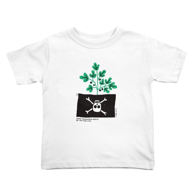 CONQUERED DEATH Kids Toddler T-Shirt by Jamus + Adriana