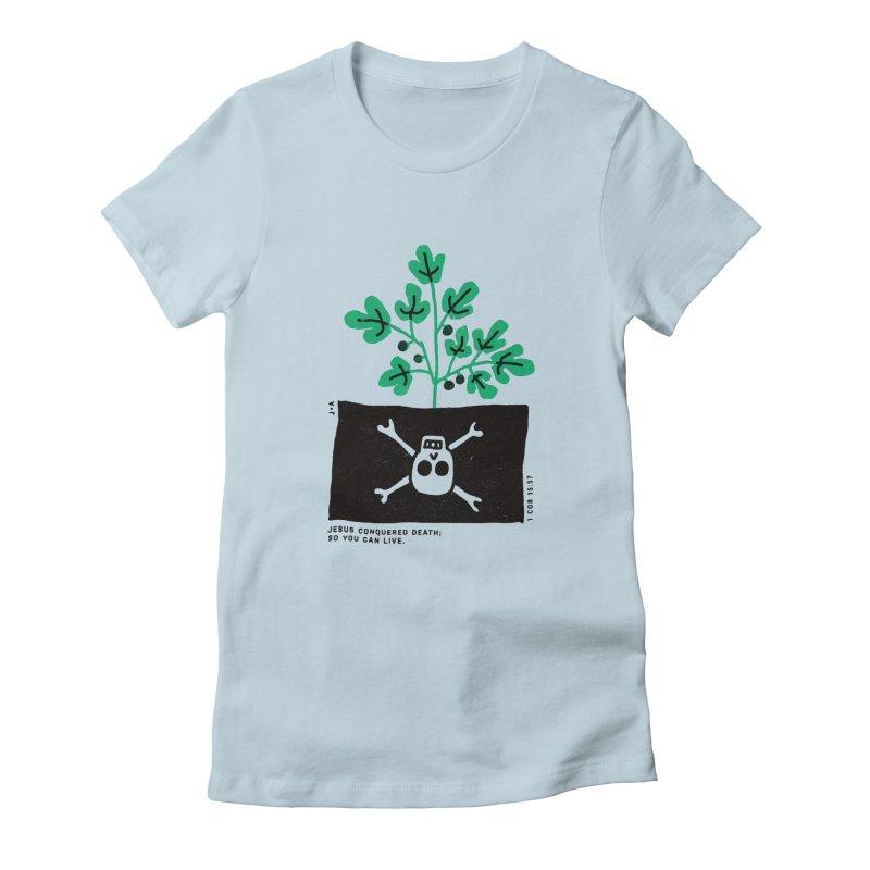 CONQUERED DEATH Women's T-Shirt by Jamus + Adriana