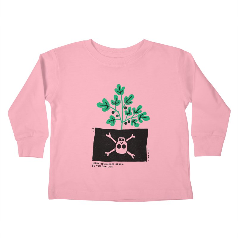CONQUERED DEATH Kids Toddler Longsleeve T-Shirt by Jamus + Adriana
