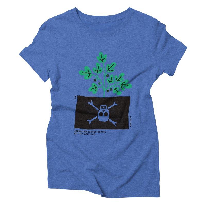 CONQUERED DEATH Women's Triblend T-Shirt by Jamus + Adriana