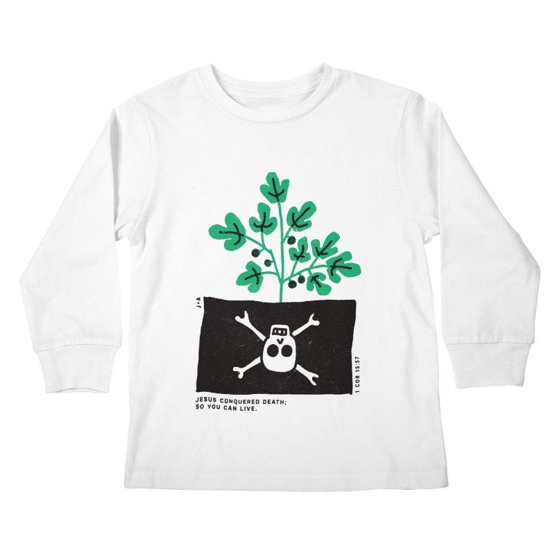 CONQUERED DEATH Kids Longsleeve T-Shirt by Jamus + Adriana