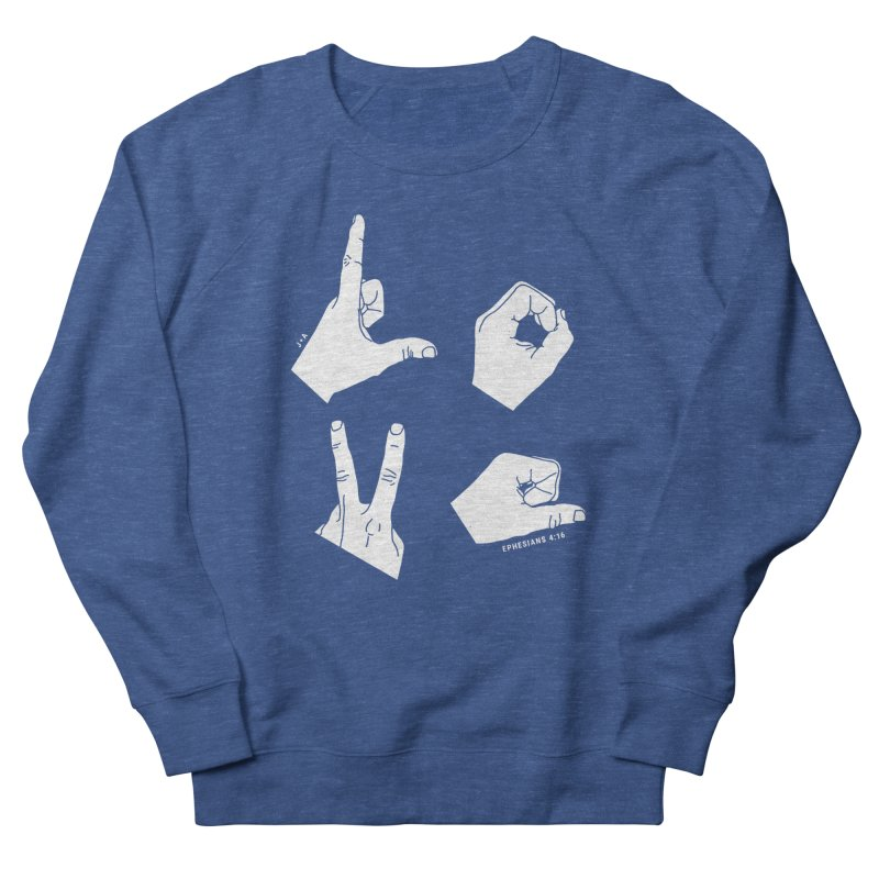 LOVE HANDS (WHITE) Women's Sweatshirt by Jamus + Adriana