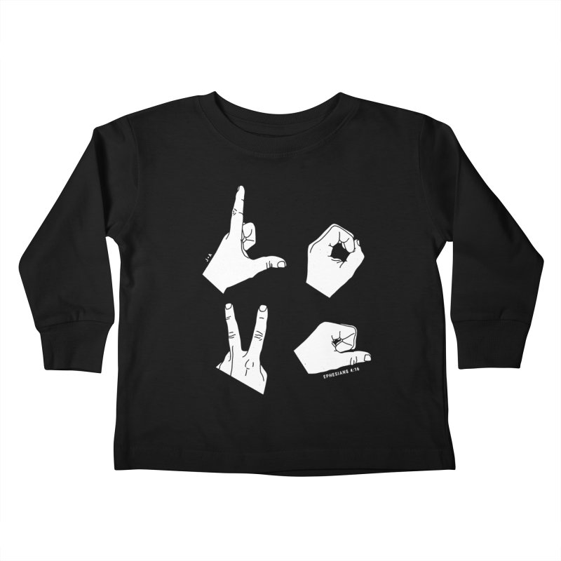 LOVE HANDS (WHITE) Kids Toddler Longsleeve T-Shirt by Jamus + Adriana