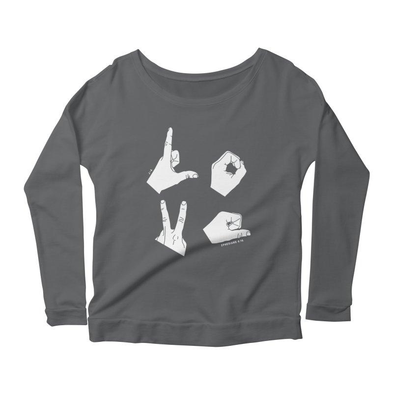 LOVE HANDS (WHITE) Women's Longsleeve T-Shirt by Jamus + Adriana