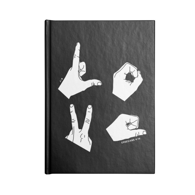 LOVE HANDS (WHITE) Accessories Lined Journal Notebook by Jamus + Adriana