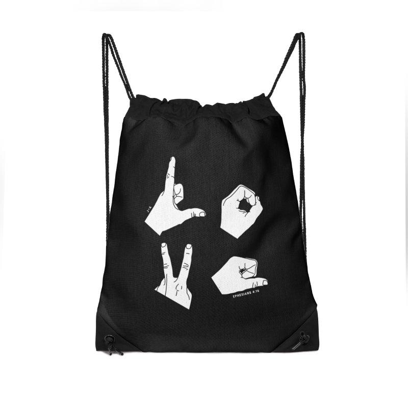 LOVE HANDS (WHITE) Accessories Bag by Jamus + Adriana