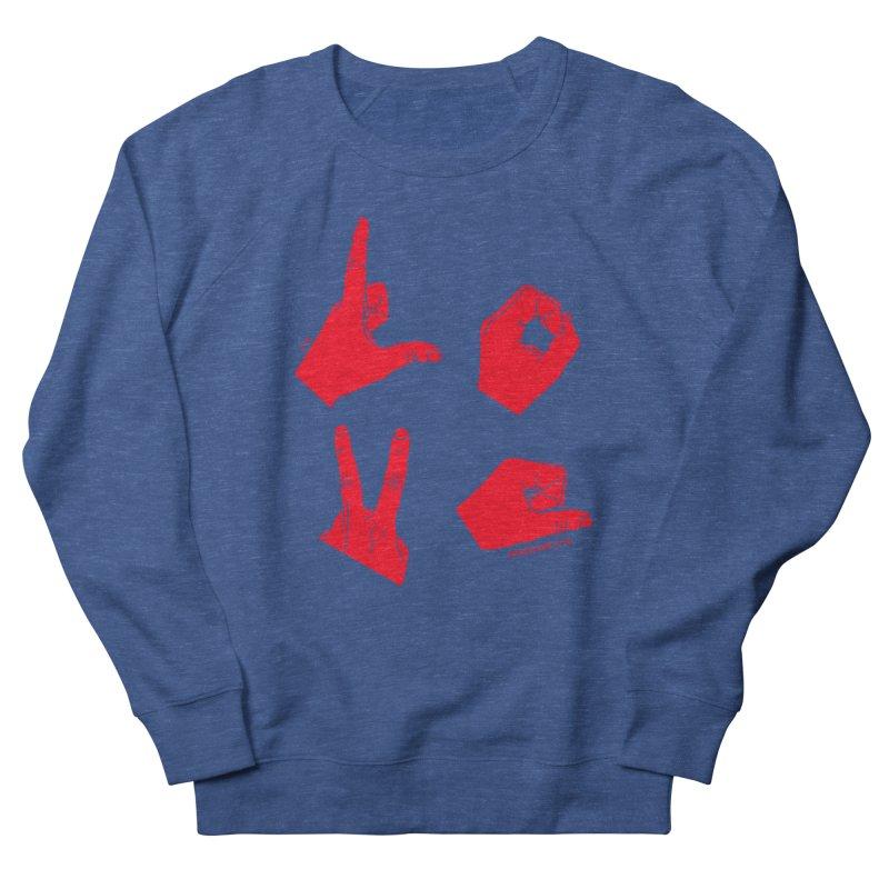 LOVE HANDS (RED) Men's Sweatshirt by Jamus + Adriana