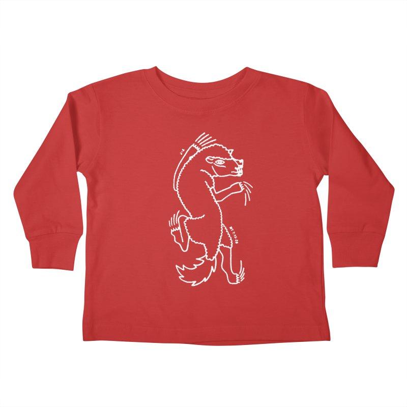 WOLF IN SHEEP'S CLOTHING (WHITE) Kids Toddler Longsleeve T-Shirt by Jamus + Adriana