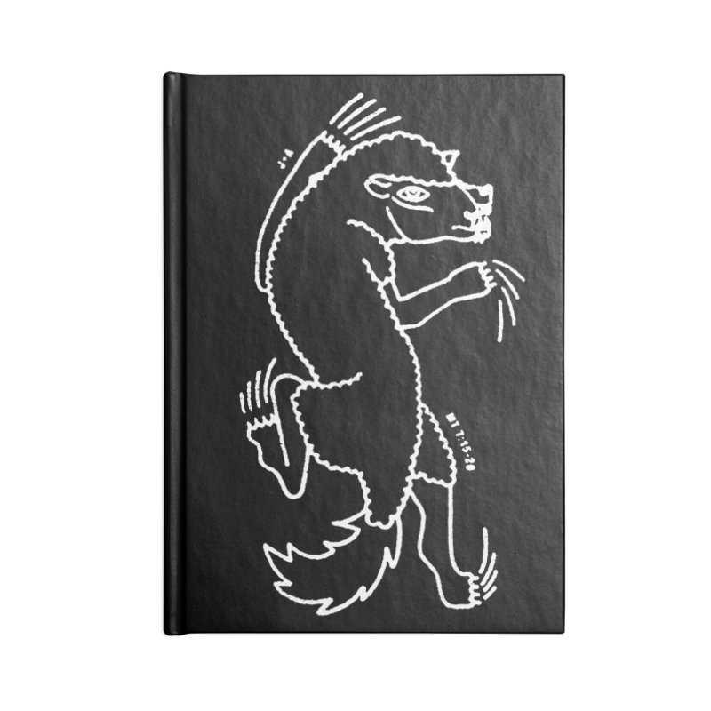 WOLF IN SHEEP'S CLOTHING (WHITE) Accessories Notebook by Jamus + Adriana