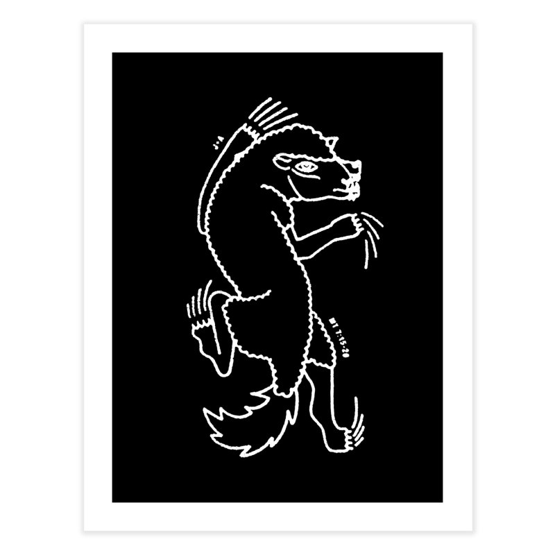 WOLF IN SHEEP'S CLOTHING (WHITE) Home Fine Art Print by Jamus + Adriana
