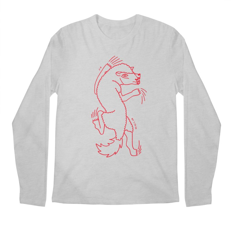 WOLF IN SHEEP'S CLOTHING (RED) Men's Regular Longsleeve T-Shirt by Jamus + Adriana