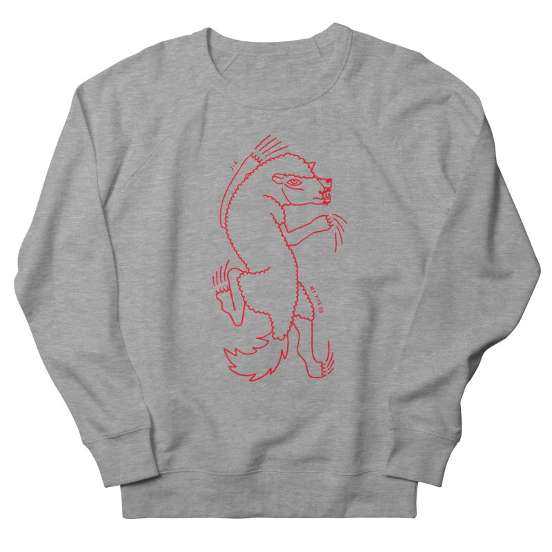 WOLF IN SHEEP'S CLOTHING (RED) Women's French Terry Sweatshirt by Jamus + Adriana