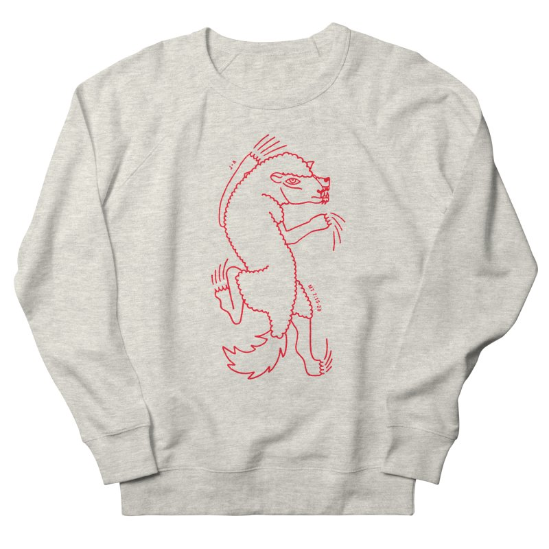 WOLF IN SHEEP'S CLOTHING (RED) Men's French Terry Sweatshirt by Jamus + Adriana