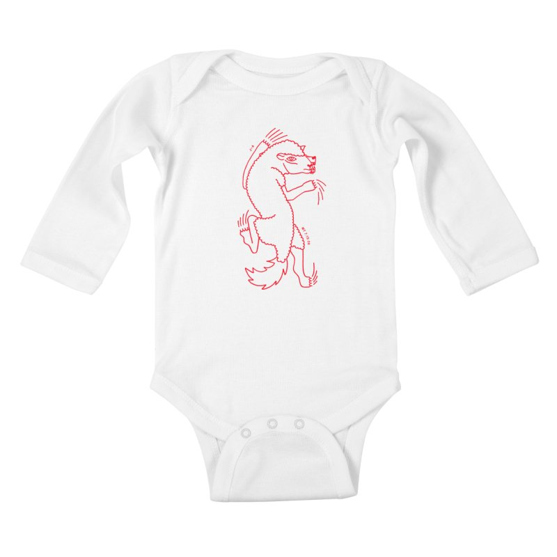 WOLF IN SHEEP'S CLOTHING (RED) Kids Baby Longsleeve Bodysuit by Jamus + Adriana