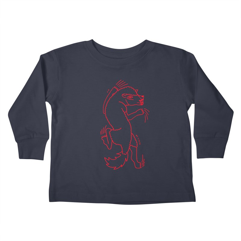 WOLF IN SHEEP'S CLOTHING (RED) in Kids Toddler Longsleeve T-Shirt Midnight by Jamus + Adriana
