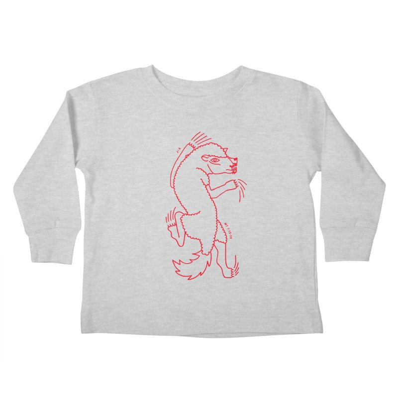 WOLF IN SHEEP'S CLOTHING (RED) Kids Toddler Longsleeve T-Shirt by Jamus + Adriana