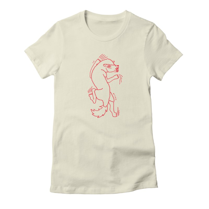 WOLF IN SHEEP'S CLOTHING (RED) Women's T-Shirt by Jamus + Adriana