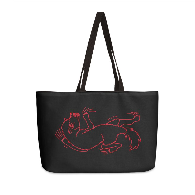 WOLF IN SHEEP'S CLOTHING (RED) Accessories Bag by Jamus + Adriana