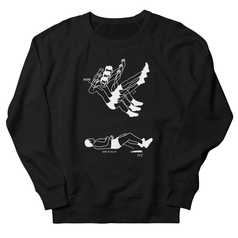WRESTLING WITH GOD (WHITE) Men's Sweatshirt by Jamus + Adriana