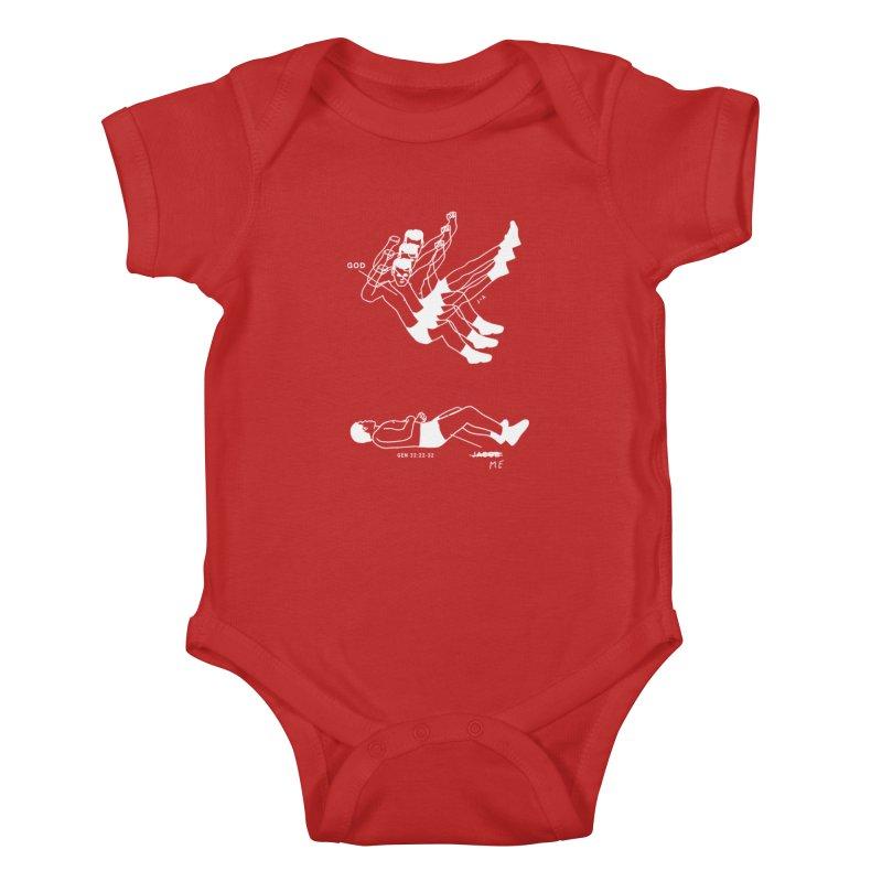 WRESTLING WITH GOD (WHITE) Kids Baby Bodysuit by Jamus + Adriana