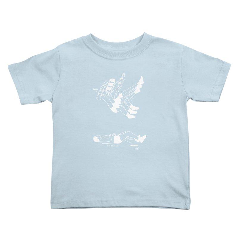 WRESTLING WITH GOD (WHITE) Kids Toddler T-Shirt by Jamus + Adriana