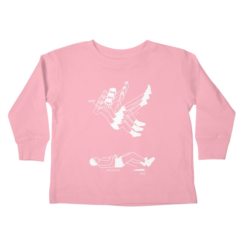 WRESTLING WITH GOD (WHITE) Kids Toddler Longsleeve T-Shirt by Jamus + Adriana