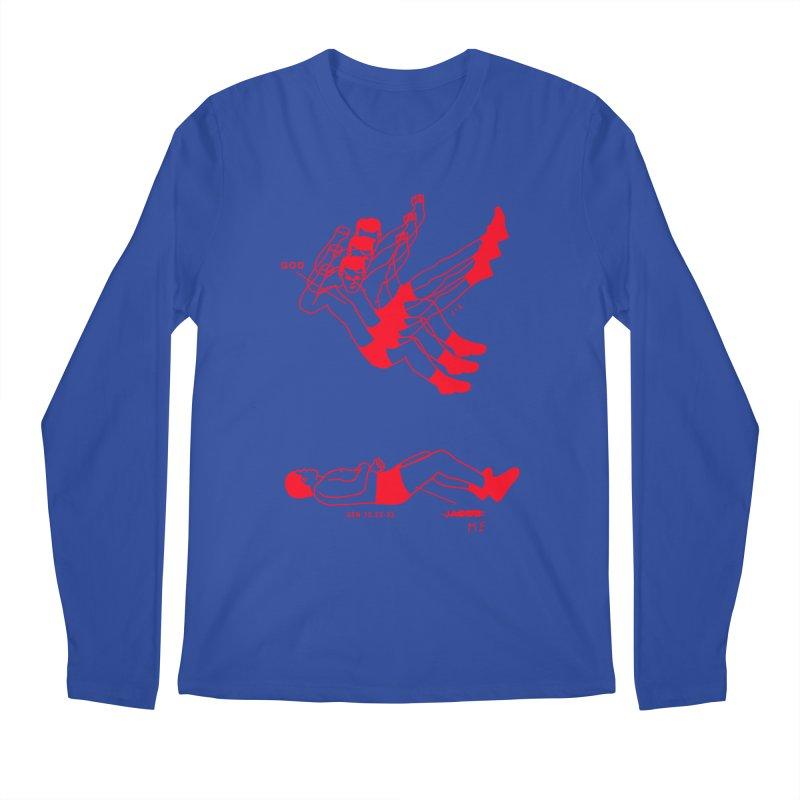 WRESTLING WITH GOD (RED) Men's Regular Longsleeve T-Shirt by Jamus + Adriana