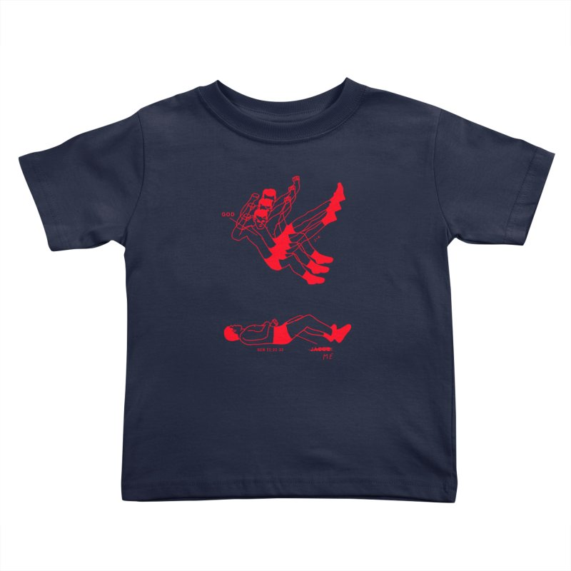 WRESTLING WITH GOD (RED) Kids Toddler T-Shirt by Jamus + Adriana