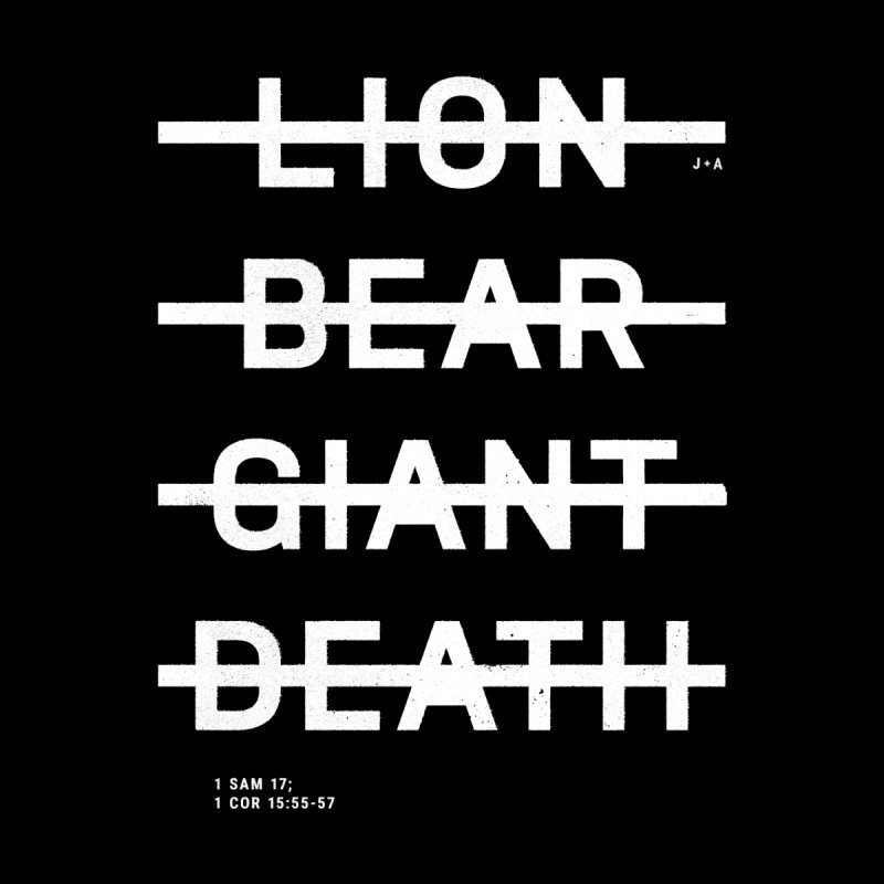 LION, BEAR, GIANT, DEATH (WHITE) by Jamus + Adriana