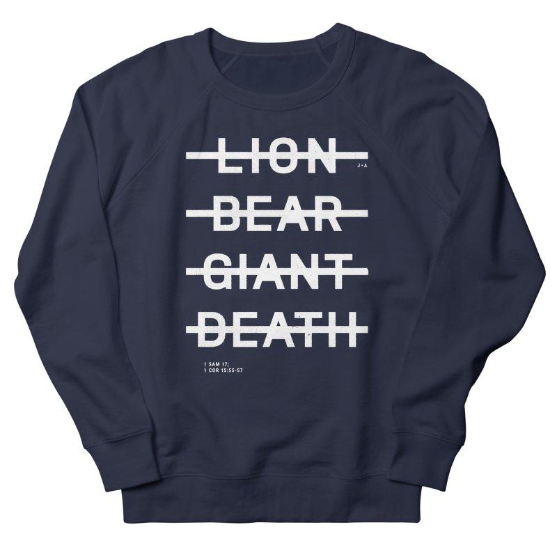 LION, BEAR, GIANT, DEATH (WHITE) Women's French Terry Sweatshirt by Jamus + Adriana