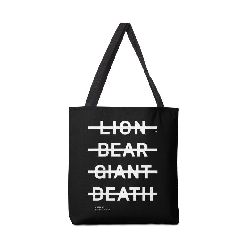 LION, BEAR, GIANT, DEATH (WHITE) Accessories Bag by Jamus + Adriana