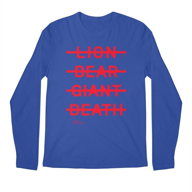 LION, BEAR, GIANT, DEATH (RED) Men's Longsleeve T-Shirt by Jamus + Adriana