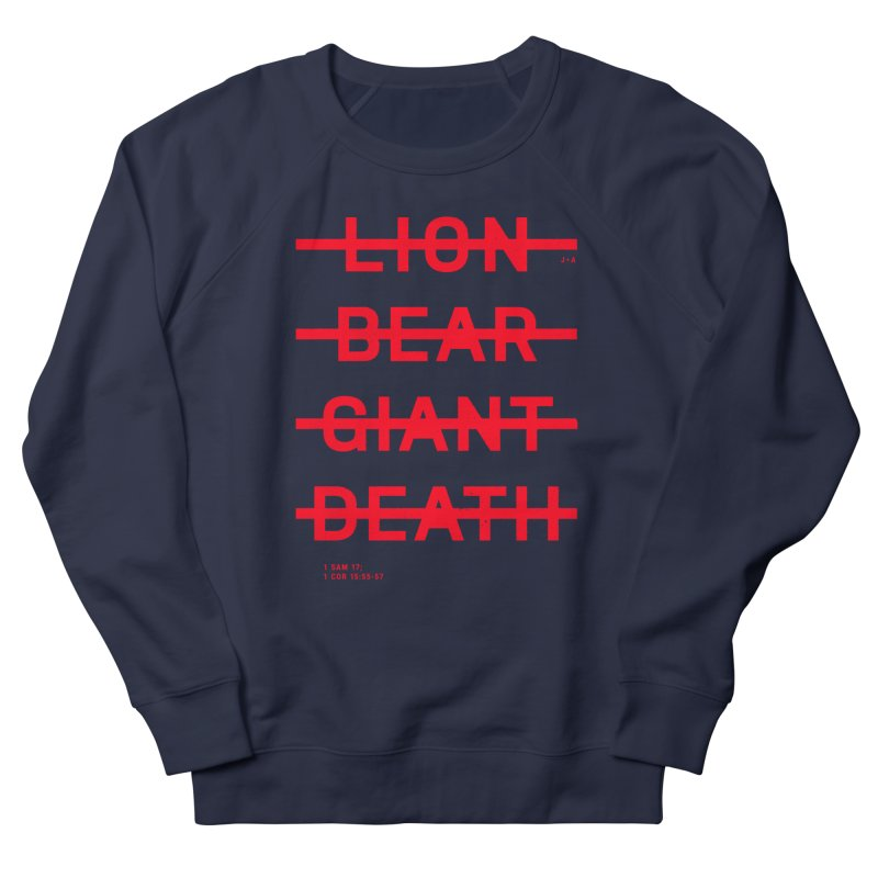 LION, BEAR, GIANT, DEATH (RED) Men's Sweatshirt by Jamus + Adriana