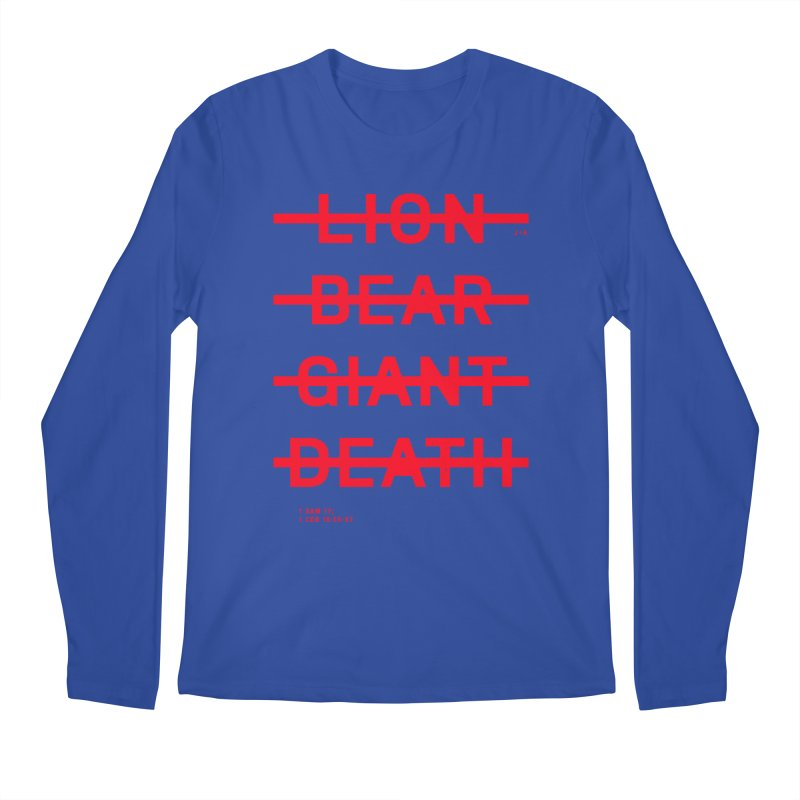 LION, BEAR, GIANT, DEATH (RED) Men's Regular Longsleeve T-Shirt by Jamus + Adriana